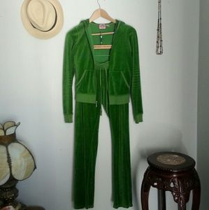 Juicy Couture green track & loungewear